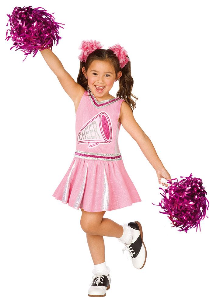Cheerleader Kostum Madchen Mit Pompons Kinderkostum Karneval