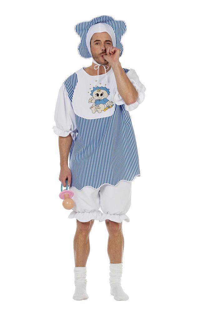 Erwachsenen Baby Kostum Herren Blau Boy Riesenbaby Kostum Karneval