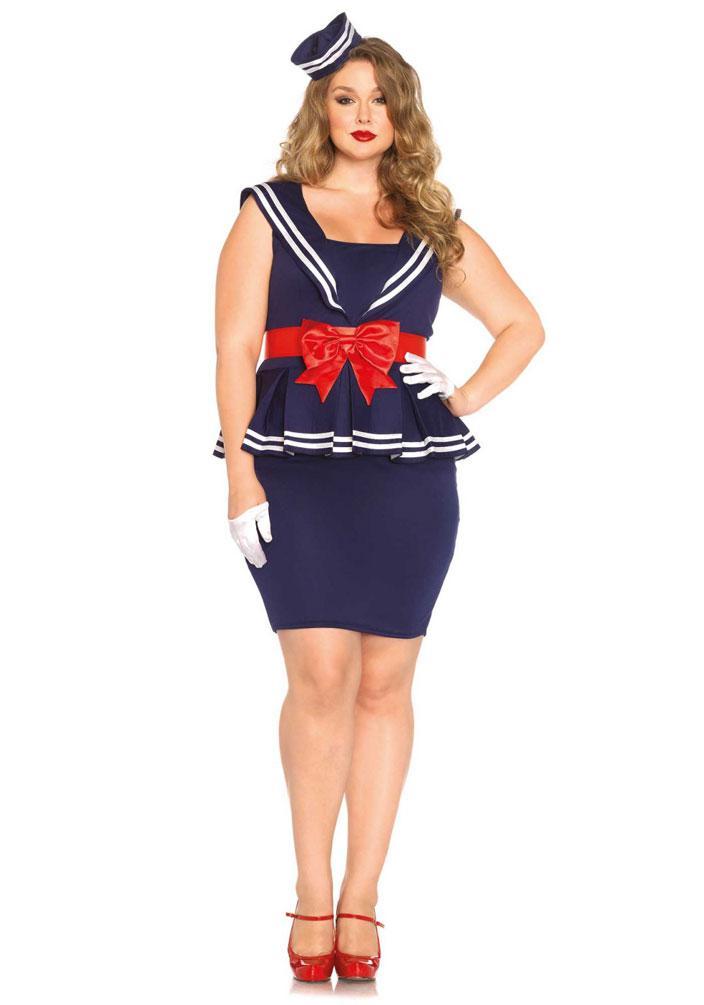 Kostüm Matrosin Marine Luxus Dame Karneval Navy Damenkostüm Kk