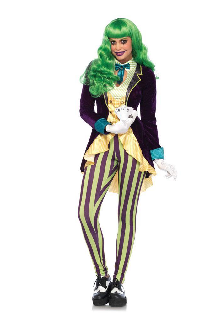 Kartenspieler In Kostum Joker Kostum Damen Luxus Karneval Poker
