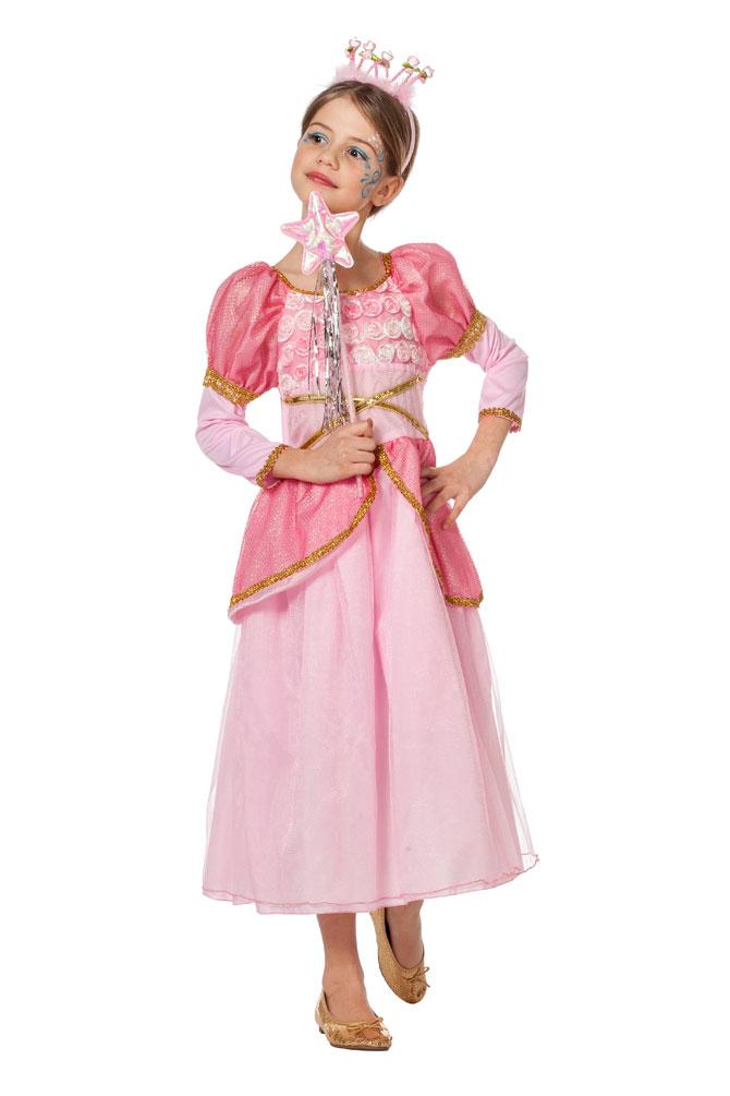 Prinzessin Kostüm Kleid Mädchen Dornröschen rosa Märchen Prinzessin Fasching KK
