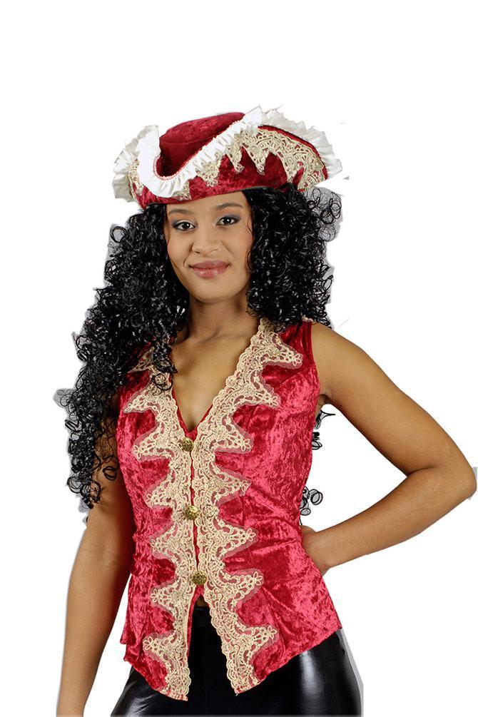 piratenkost m damen kost m piratin piraten weste damen bordeaux piratenbraut kk kaufen bei kl. Black Bedroom Furniture Sets. Home Design Ideas