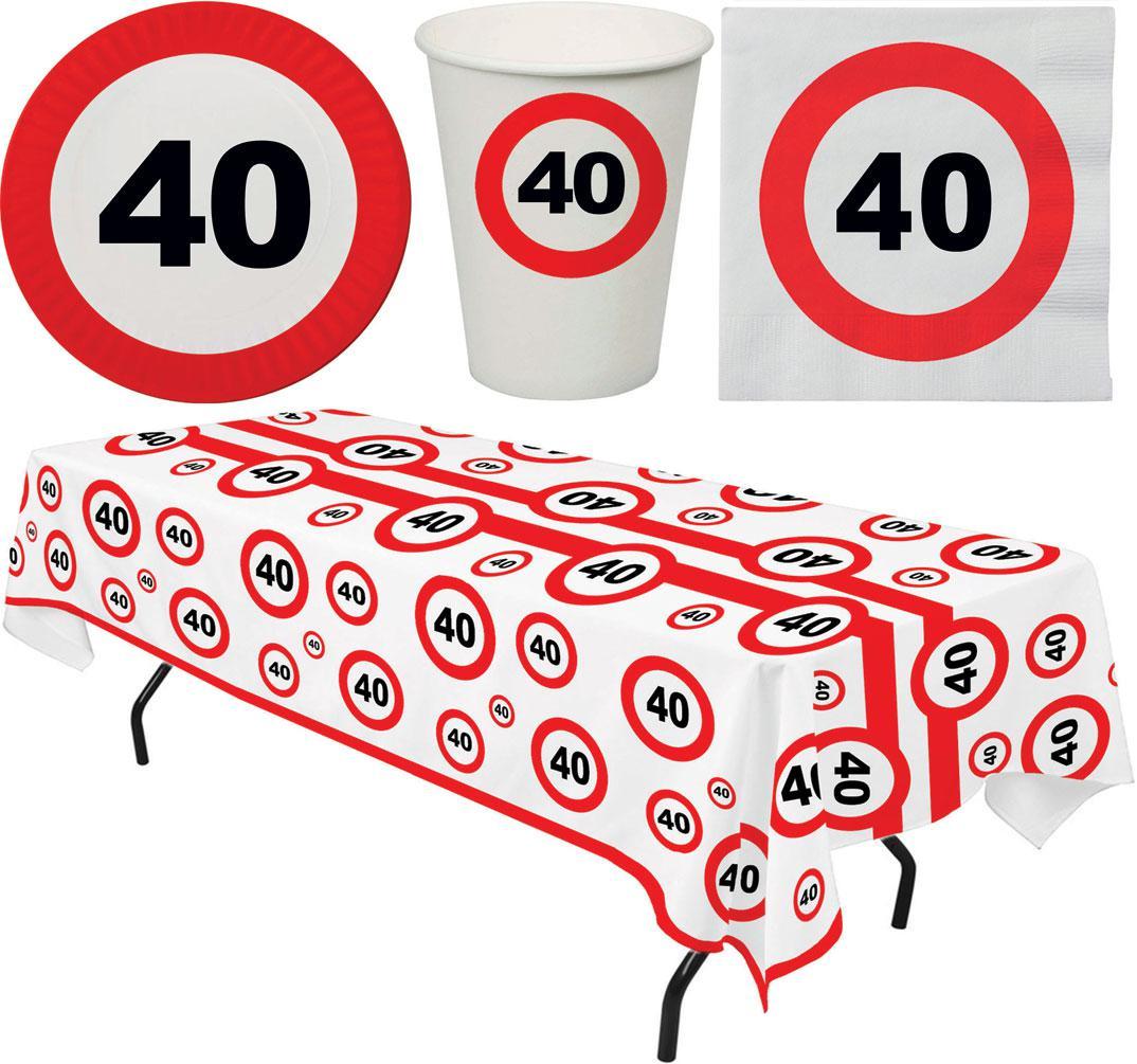 Party Set 33 Teile Geburtstag 40 Jahre Verkehrsschild Kaufen Bei