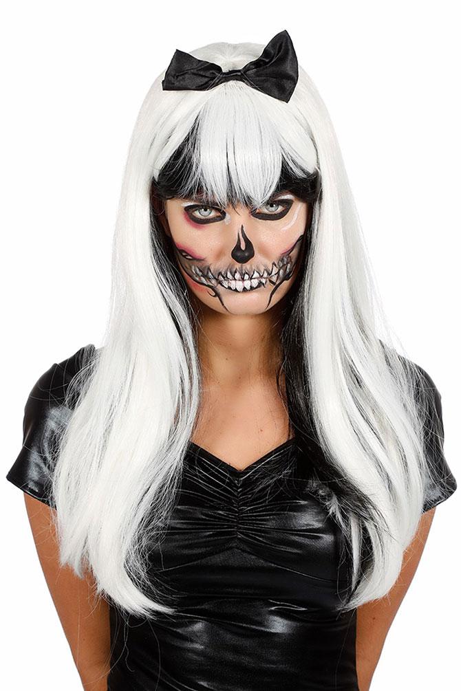 Super Rabatt Neuankömmlinge großes Sortiment Zombie Perücke schwarz weiß Horror Perücke mit Fliege Damenperücke  Halloween KK