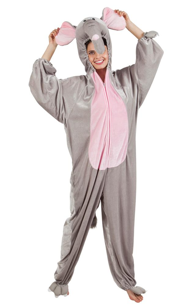 Elefant Kostüm Damen Plüsch Elefant Overall Karneval Tier Kostüm