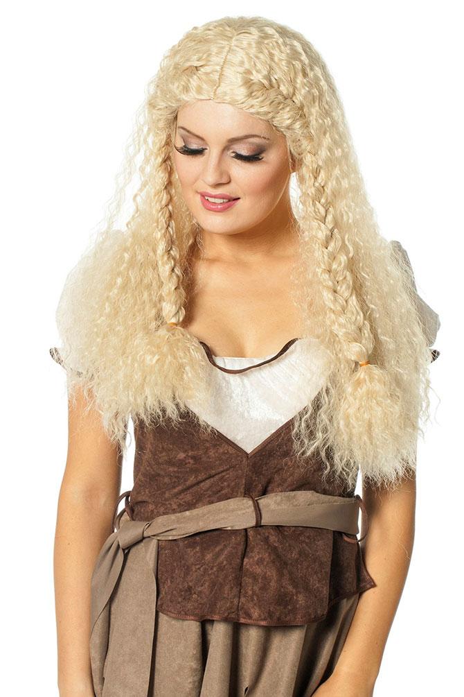 Mittelalter Perucke Locken Blond Damen Perucke Fur Magd Wikinger Dame Fasching K
