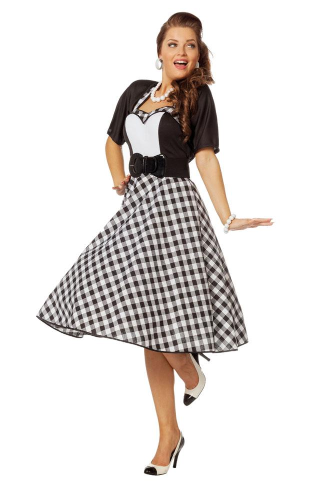 50er Jahre Kleid Rockabilly Kostüm Rock n Roll Damen-Kostüm Karneval ...