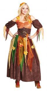 Waldfee Kostüm Damen Fee-n-Kostüm lang Märchen Karneval Damen-Kostüm KK
