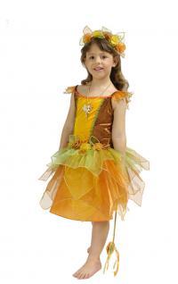 Waldfee Kostüm Kinder Fee Kostüm Elfe-n Kostüm Mädchen Blumenkranz Stäbchen KK