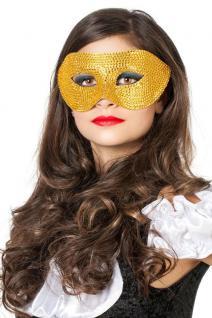 Venezianische Masken Venezianisch gold Steinchen Augen-Maske Venedig Maskenball