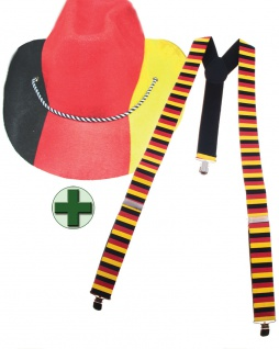 Fan Hut Deutschland aus Filz WM Frauen Fußball 2019 Hosenträger Fan-Artikel KK