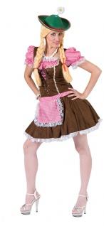 Oktoberfest Dirndl Kostüm Maria braun Trachtenkleid Damen Dirndl Damenkostüm KK