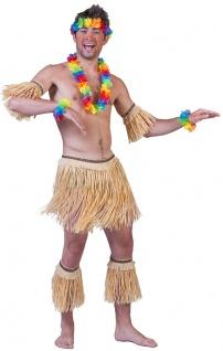 Kostüm Hawaii Set 5Tlg Bastrock Stulpen Karneval Sommerparty Erwachsene Karneval