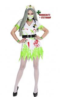 Horror Zombie Kostüm Damen sexy Grusel Halloween Damenkostüm KK