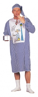 Schlafwandler Kostüm Herren Schlafmutze Nachthemd Herrenkostüm Fasching KK