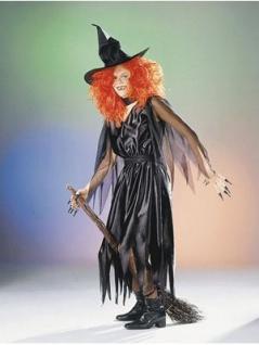 Hexenkostüm Gothic Dame Hexe Halloween Horror Hexenkleid Damenkostüm KK