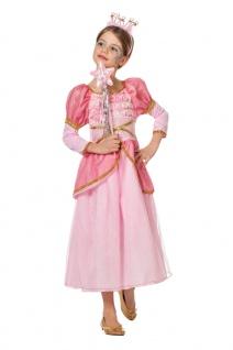 Prinzessin Kostüm Kleid Mädchen Dornröschen rosa Märchen-Prinzessin Fasching KK
