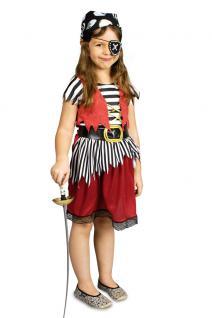 Piratenkostüm Kinder Piratin Kinder Mädchen Piratenbraut Fasching Karneval KK