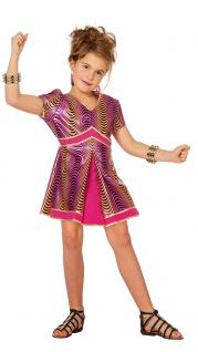 Disco Kostüm Mädchen 70er Jahre Kleid pink Rockstar Popstar Karneval Fasching KK