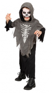 Horror Kostüm Kinder Geist Skelett Kinder-Kostüm Halloween-Kostüm Fasching KK