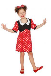 Minnie Mouse Kostüm Kinder Minnie Maus-Kostüm Mädchen Karneval Kinder-Kostüm KK