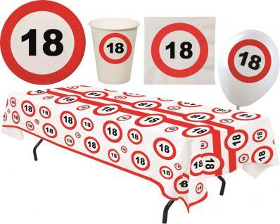 Party Set XL 45 Teile Geburtstag 18 Jahre Verkehrsschild