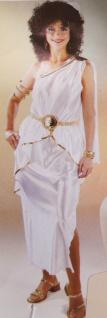 Römerin Kostüm Griechische Göttin Toga weiß-gold Damen Karneval Fasching KK
