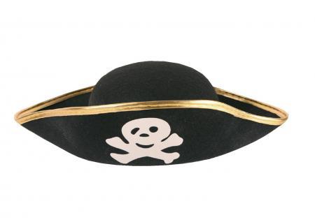Karneval Klamotten Kostüm Piratenhut klassich für Erwachsene Pirat Karneval