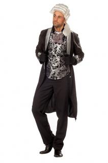 Renaissance Kostüm Herren Rokoko Kostüm Baron schwarz silber Barock Herrenkostüm