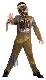Horror-Kostüm für Kinder blutiges Grusel Kostüm mit Zombie Maske Halloweenkostüm