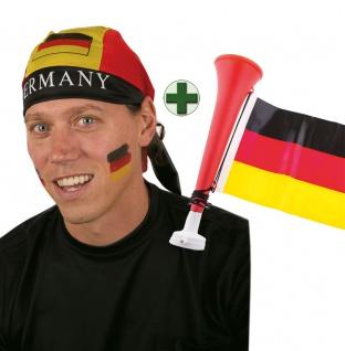 Tröte Fan Fußball Kopftuch schwarz rot gold Fan-Artikel EM WM Fußball 2021 KK