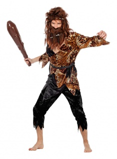 Höhlenmensch Kostüm Neandertaler Urmensch Steinzeit Hemd Hose Herren Fasching KK - Vorschau