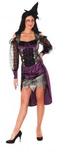 Hexen-Kostüm Damen Sexy Hexe gruselig lila schwarz Halloweenkostüm Fasching KK