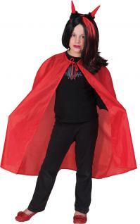 Vampir Umhang rot Kind Dracula Kostüm Halloween Jungenkostüm Mädchenkostüm KK