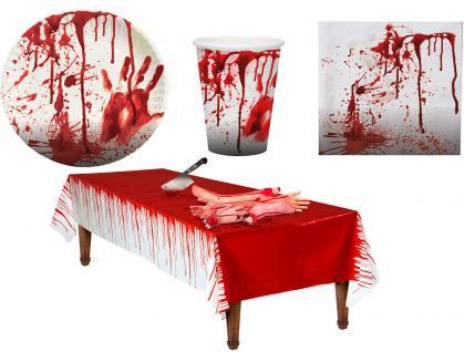 Tischdeko Halloween Party-Geschirr Halloween Blut Party Set XL Horror 37 St. KK
