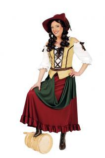 Kostüm Magd Bäuerin Wirtin Tavernen Mittelalter Damen Kleid Damenkostüm KK