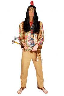 Indianer Kostüm Herren Herrenkostüm beige Kostüm Indianer Herr KK