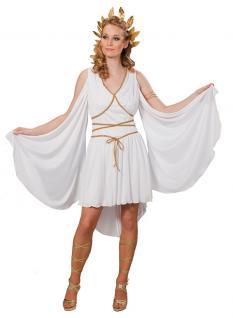 Karneval Klamotten Kostüm Griechische Göttin Dame Kostüm Toga Damenkostüm
