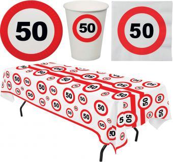 Party Set 33 Teile Geburtstag 50 Jahre Verkehrsschild