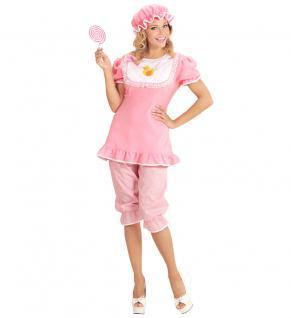 Erwachsenen Baby Kostüm Damen rosa Girl Riesenbaby Kostüm Karneval Fasching KK