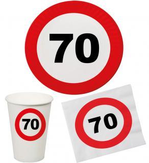 Party Set 32 Teile Geburtstag 70 Jahre Verkehrsschild