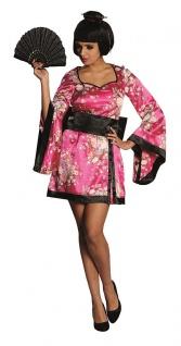 Geisha Kostüm Damen Japanerin Kimono mit Gürtel Damenkostüm Fasching Karneval KK - Vorschau