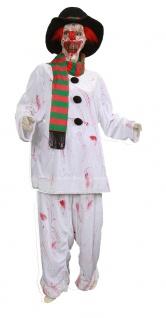 Zombie blutiges Horror Kostüm Herren Grusel Schneemann Halloweenkostüm Fasching