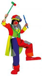 Kostüm Clown Kinder Junge bunt Clownkostüm Kinderkostüm Fasching Karneval KK