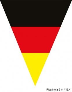 Girlande Deutschland 5 m 10 Flaggen Fan-Artikel Fußball EM WM Herren 2021 KK