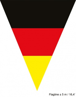 Girlande Deutschland 5 m 10 Flaggen Fan-Artikel Fußball WM Frauen 2019 KK