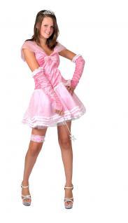 Karneval Klamotten Kostüm Prinzessin Dame rosa kurz Kostüm Märchen Damenkostüm