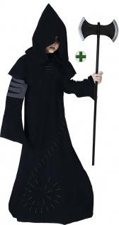 Warlock Kostüm Kinder Hexenmeister Magier Horror Hexer MIT Doppelaxt Halloween K