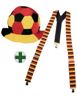 Hosenträger Deutschland Deutsch mit Hut Fan-Artikel WM Frauen Fußball 2019 KK