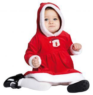 Weihnachtskleid Baby Weihnachtskostüm Mädchen Nikolaus Miss Santa Claus KK